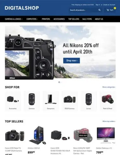 Responsive Ecommerce Website Templates Free 161