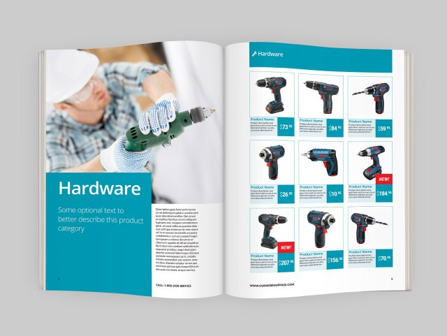 catalog template 8641