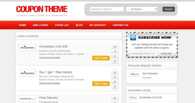 coupon website template 161