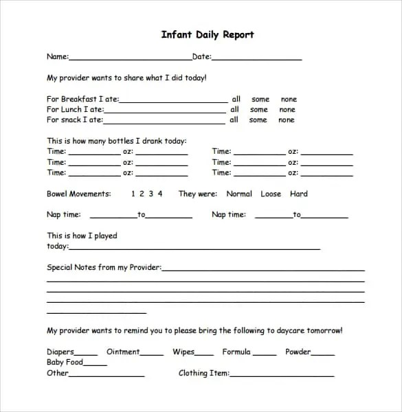 daily report template 11.1