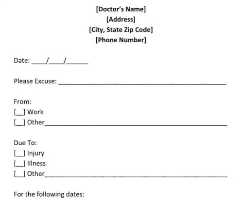 doctors note template 13
