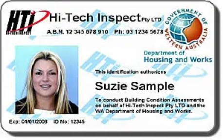 employee id card template 14