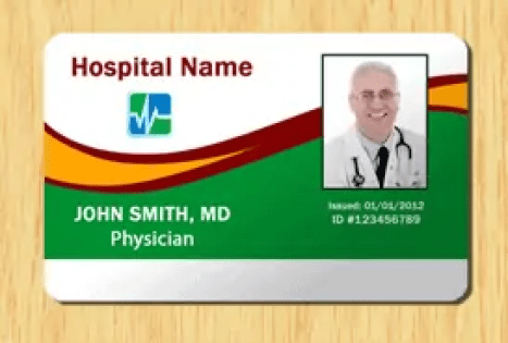 employee id card template 461