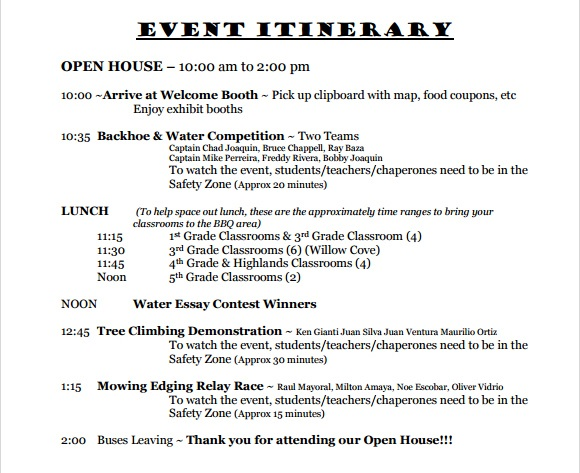 event itinerary template koni polycode co