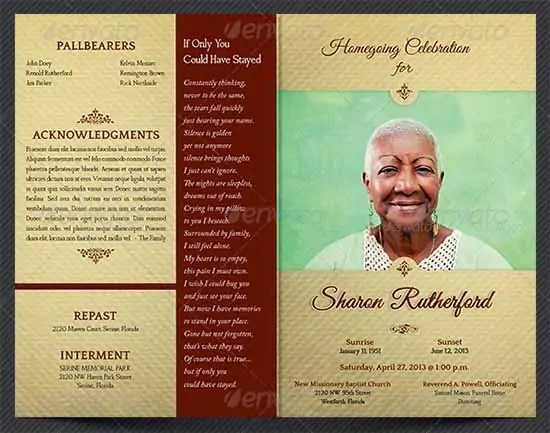 Free Funeral Program Templates Microsoft Word  Website