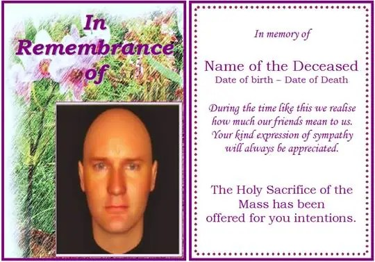 6 free funeral program templates microsoft word website for Funeral memory cards free templates