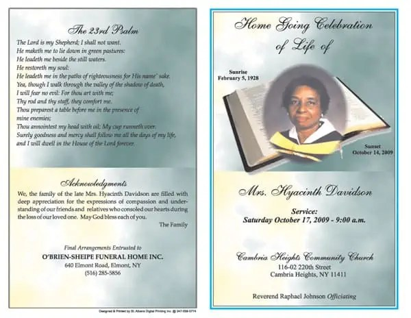 6+ Free Funeral Program Templates Microsoft Word - Website