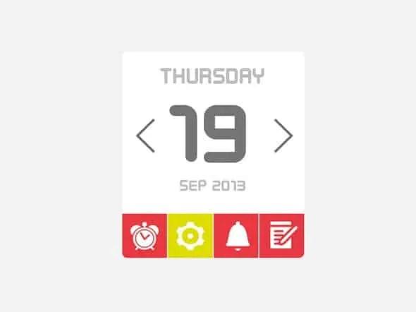 html calendar template 10