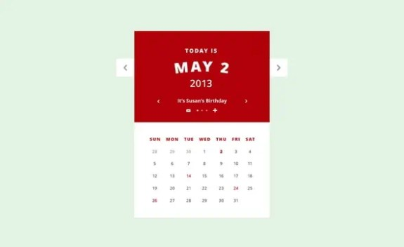 html calendar template 11