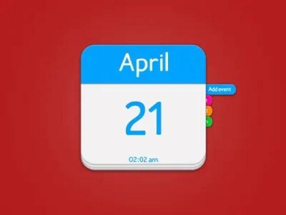 html calendar template 12