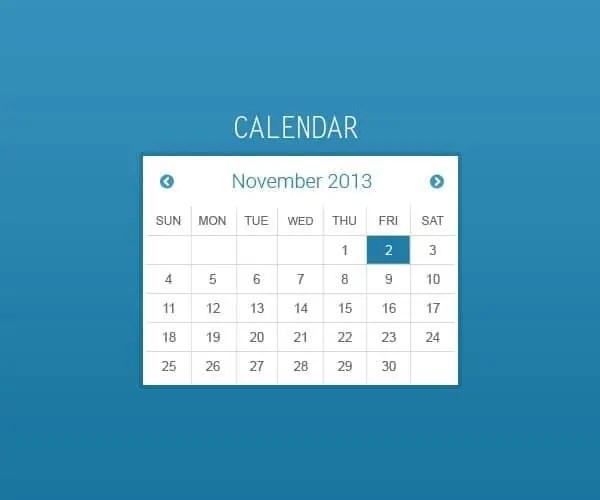 Html Calendar Template Roho4senses