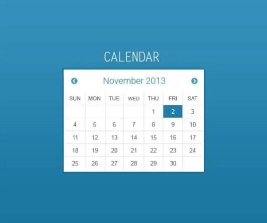 html calendar template 164
