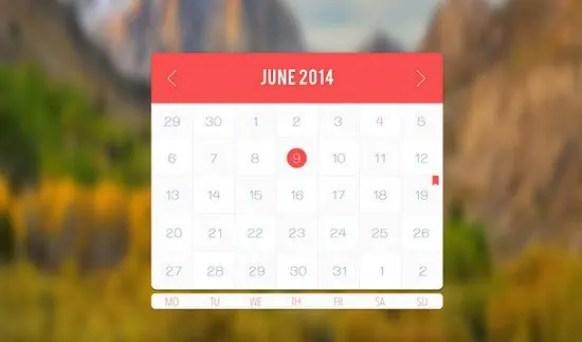 html calendar template 61