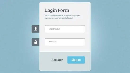 login page template 13.4