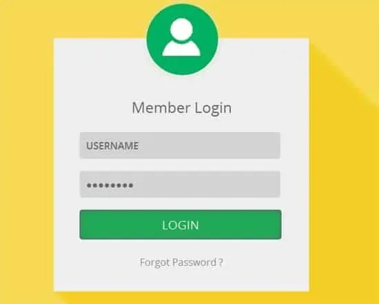 6  login page templates