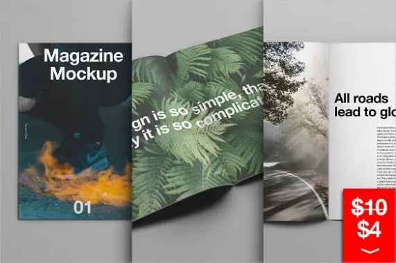 magzine cover template 741