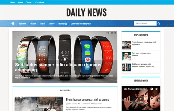 news blogger theme 164