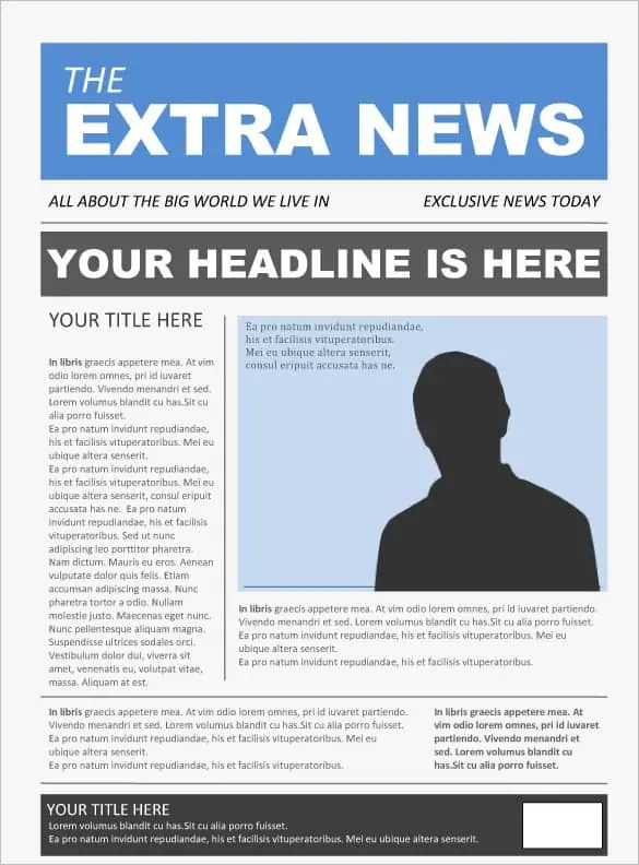 newspaper template 10