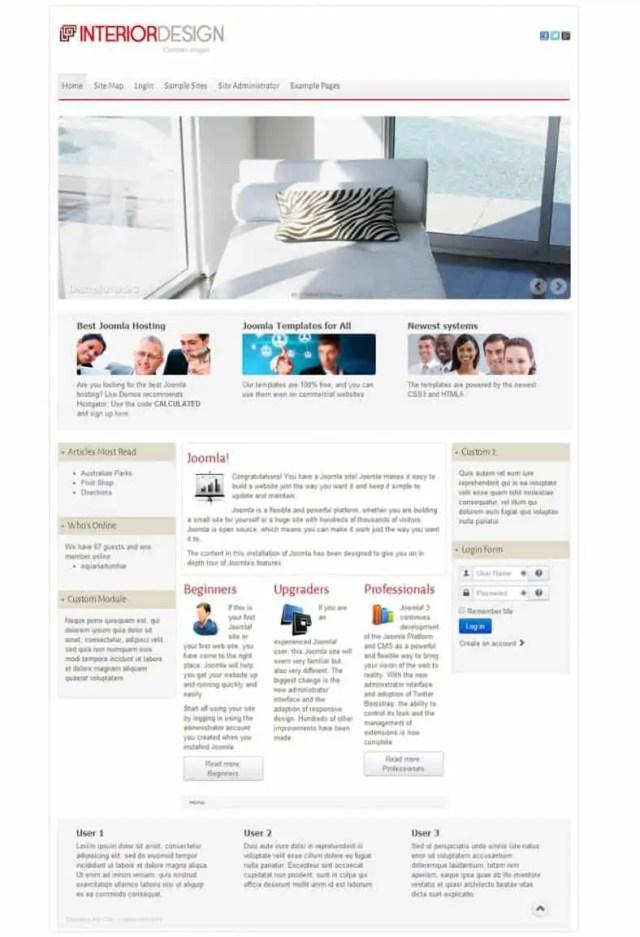 Interior Design WordPress Theme Free Download 7941