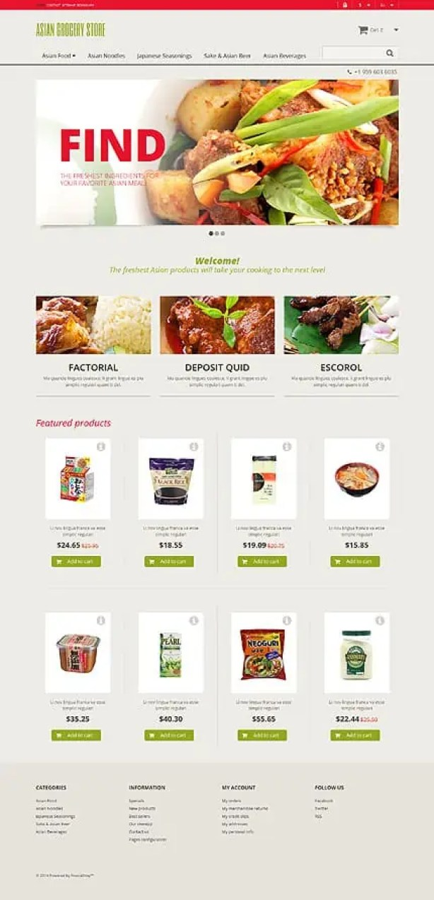 Online Grocery Shopping Website Templates 145