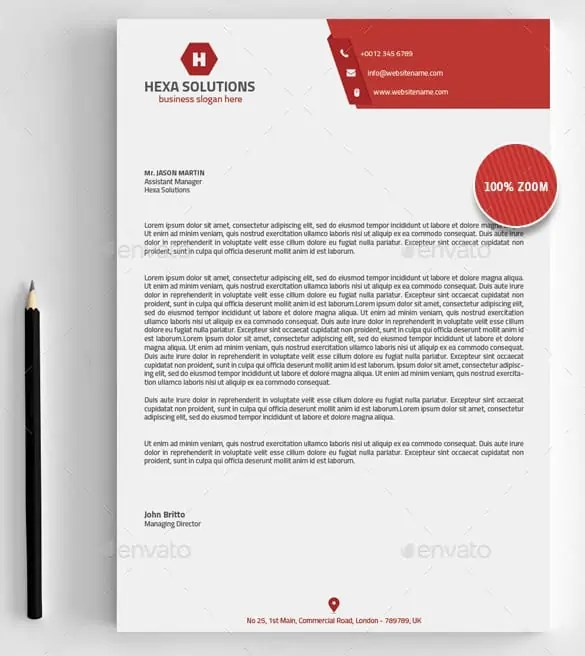 6+ Free Business Letterhead Templates For Word - Website