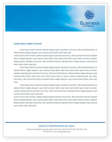 business letterhead template 846