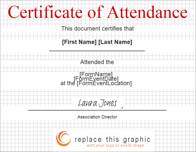 certificate of attendance template 641