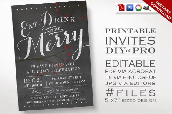 chalkboard invitation template 247