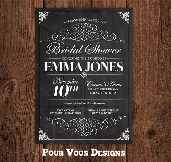 chalkboard invitation template 477