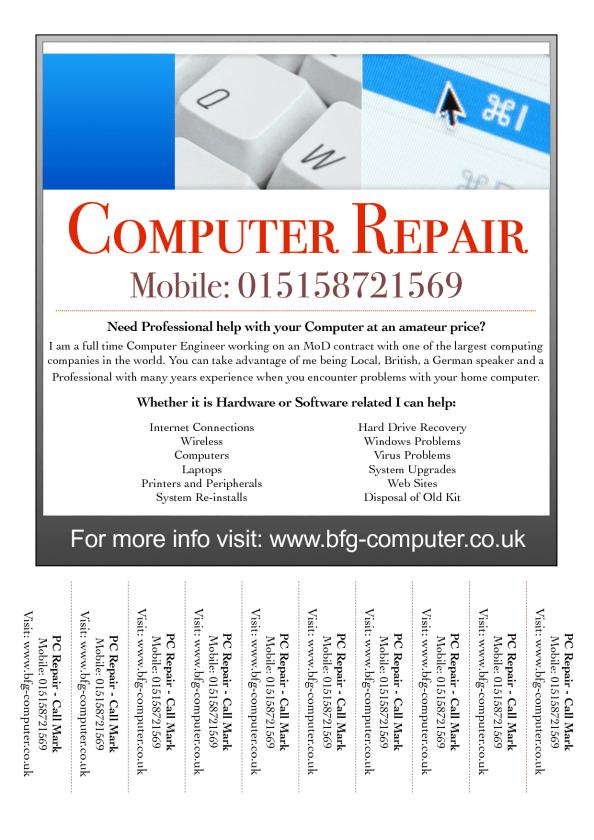 6  computer repair flyers