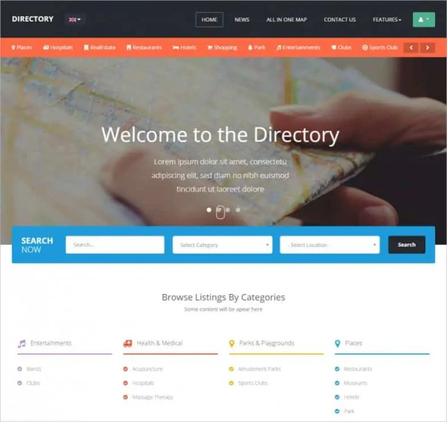 directory html template 7946