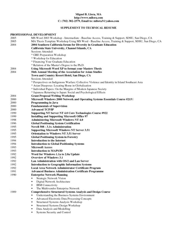 executive resume template word 7946