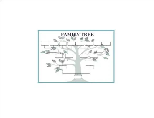 family tree template word  154