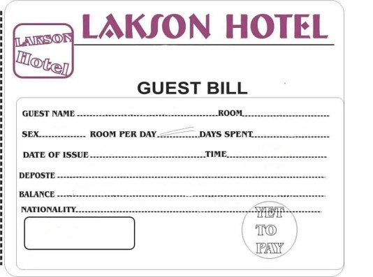 hotel bill format in word 6461