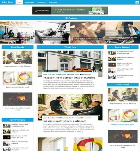 html5 blog templates 10