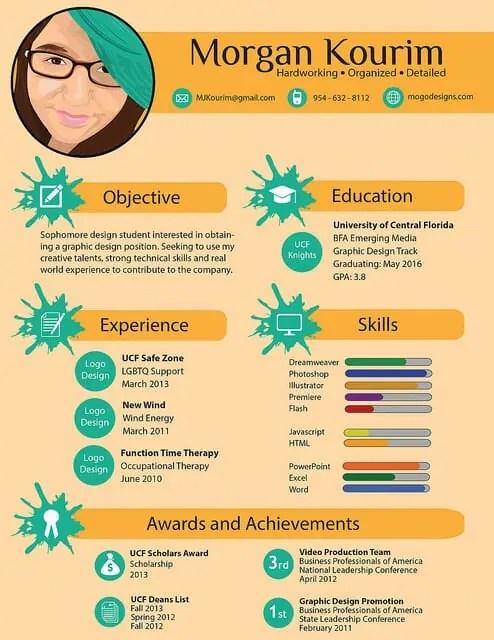 6 Infographic CV Templates Website Wordpress Blog
