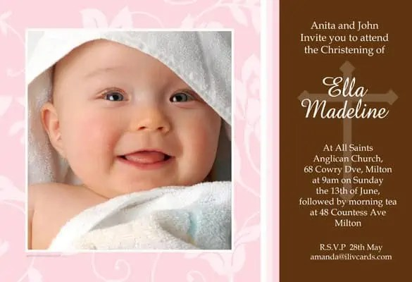 Naming Ceremony Invitations  Website Wordpress Blog