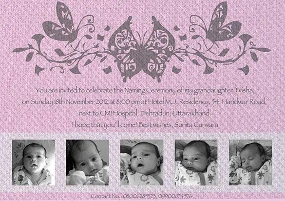 naming ceremony invitation 84