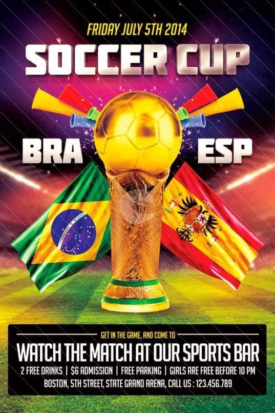 soccer flyer template 330