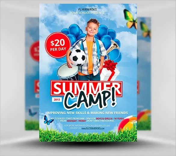 summer camp flyer template 330