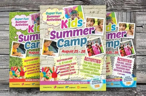 summer camp flyer template 770