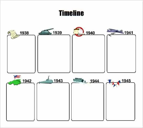timeline template for kids 8