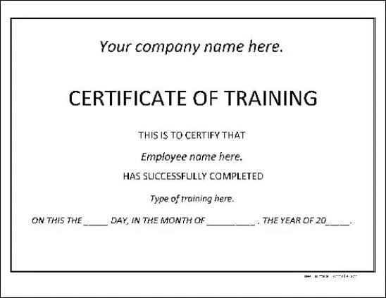training certificate template 4974