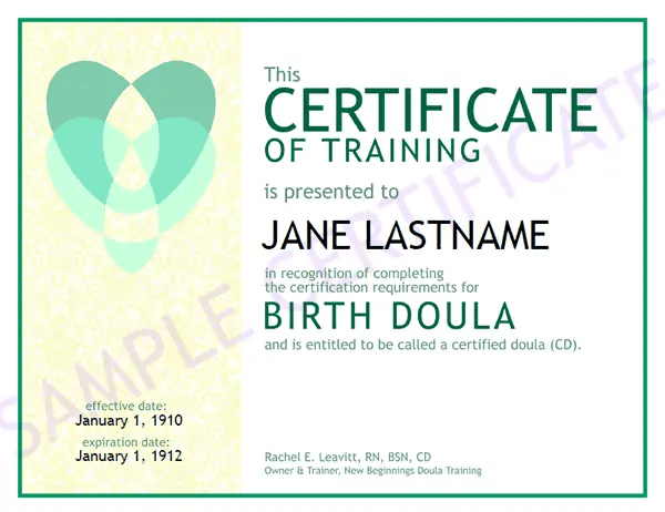 training certificate template 6461