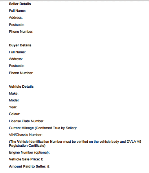 vehicle purchase agreement template 264
