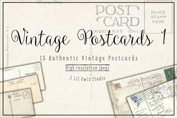 vintage postcard template 440