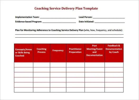 6  delivery schedule templates