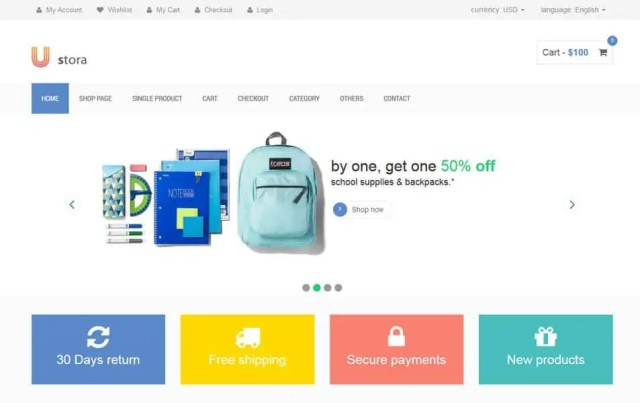 Ecommerce HTML5 Templates 32