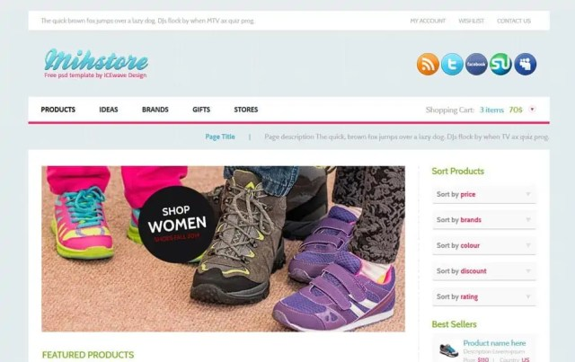 Ecommerce HTML5 Templates 72