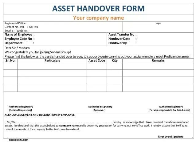6 handover report templates website wordpress blog for Job handover checklist template